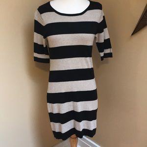 Black & Tan Sweater Dress